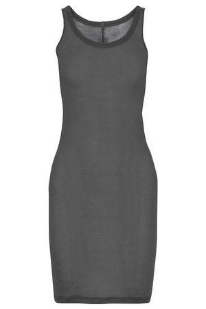 Rick Owens Women Casual Dresses - Woman Slub Cotton-jersey Mini Dress Anthracite Size 38