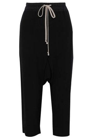 Rick Owens Women Pants - Woman Cropped Crepe Harem Pants Size 44
