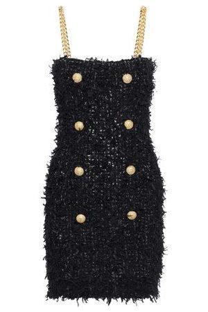 Balmain Woman Button-embellished Bouclé Mini Dress Size 38