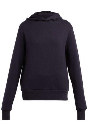 The Row Wren Cotton Hooded Sweatshirt - Womens - Navy