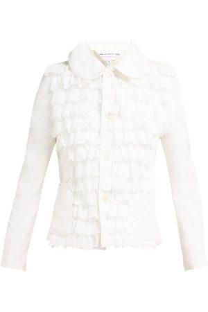 Comme des Garçons Broderie Anglaise Ruffled Cotton Jacket - Womens