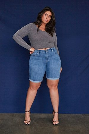Forever 21 Plus Size Levis Shaping Bermuda Shorts