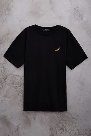 Forever 21 Embroidered Banana Tee