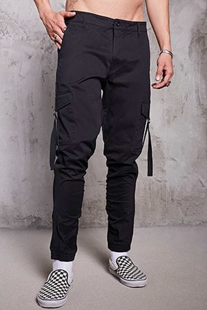 Forever 21 Ruched Cargo Joggers