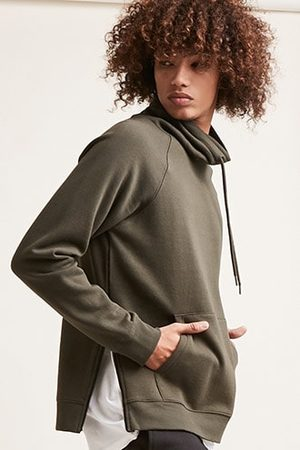 Forever 21 Zippered Cowl Neck Pullover
