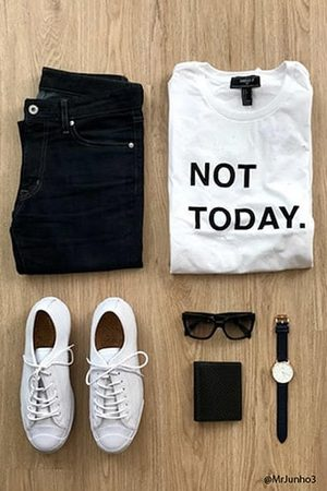 Forever 21 Distressed Not Today Graphic Tee