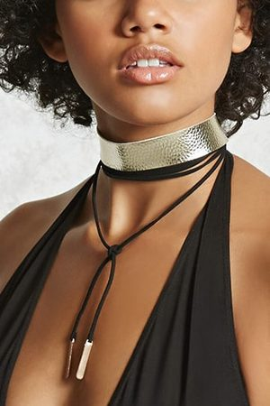 Forever 21 Faux Leather Choker Set