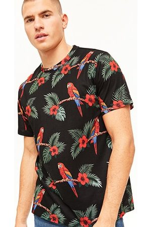 Forever 21 Floral & Parrot Print Tee