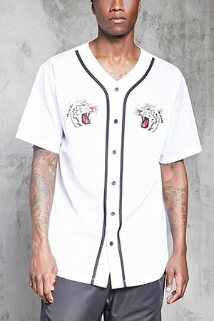 Forever 21 Tiger Patch Baseball Jersey
