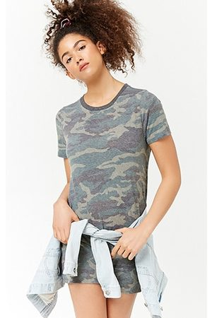 Forever 21 Camo Print T-Shirt Dress