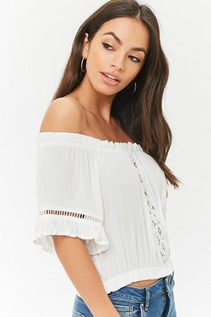 Forever 21 Ladder Cutout Off-the-Shoulder Top