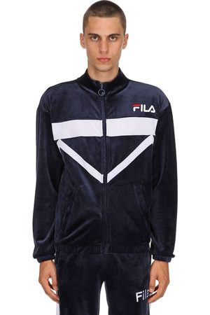 Fila Men Jackets - Nixon Cotton Blend Velour Track Jacket