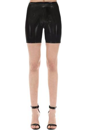 GCDS Women Shorts - Vinyl Biker Shorts