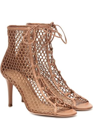 Gianvito Rossi Helena fishnet ankle boots