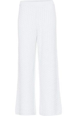 Alessandra Rich Stretch cotton knit wide-leg pants