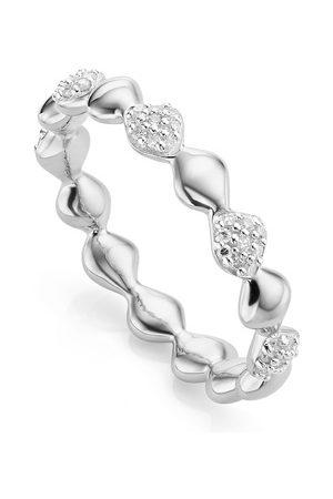 Monica Vinader Sterling Silver Nura Teardrop Mixed Eternity Diamond Ring Diamond