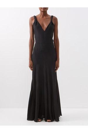 Raey Multi-seam Twist-strap Silk Dress - Womens