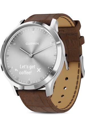 Garmin Vivomove Hr Alligator-Embossed Leather Strap Touchscreen Hybrid Smartwatch, 43mm
