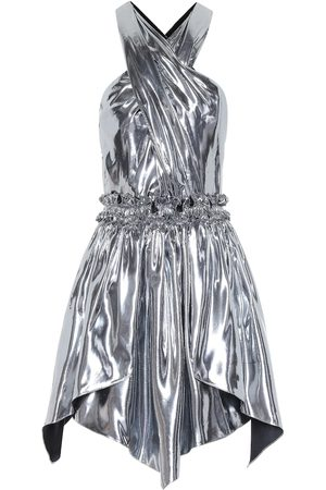 Isabel Marant Kary metallic silk-blend minidress