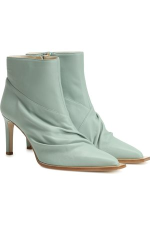 tibi Cato leather ankle boots