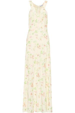Paco rabanne Embroidered silk-blend dress