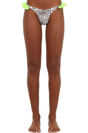 JUST SAUCED Mimi Ruffled Leopard Print Bikini Bottom