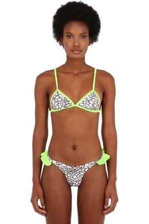 JUST SAUCED Mimi Leopard Printed Bikini Top