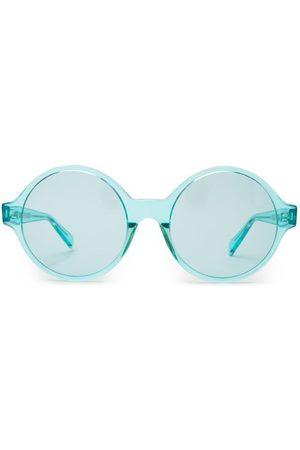 Céline Oversized Round Frame Acetate Sunglasses - Womens - Light