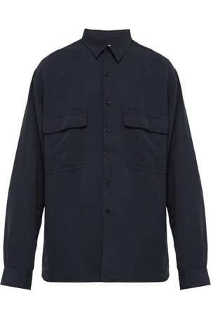 Raey Men Shirts - Drapey Shirt - Mens - Navy