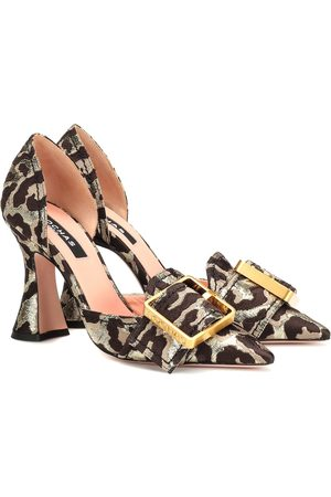 Rochas Leopard brocade pumps