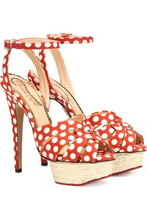 Charlotte Olympia Dolly polka-dot plateau sandals
