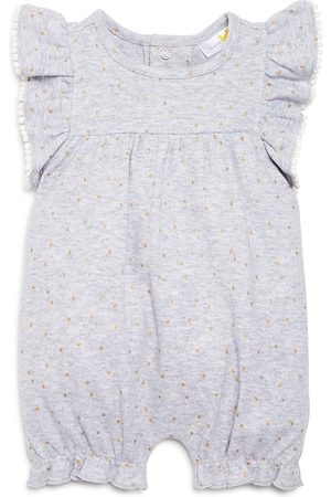 Bloomie's Girls' Ruffle-Sleeve Polka-Dot Short Coverall, Baby - 100% Exclusive