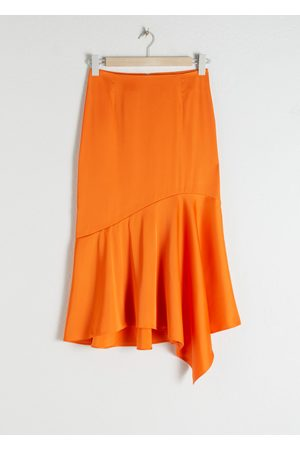 & OTHER STORIES Satin Handkerchief Midi Skirt