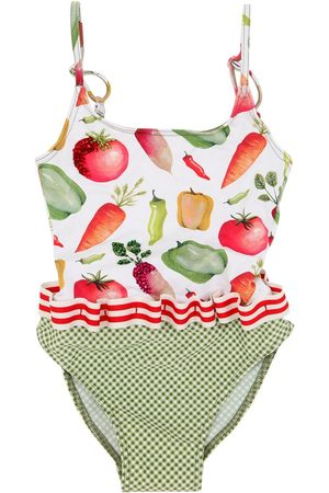 SELINI Vegetable Print Lycra One Piece Swimsuit