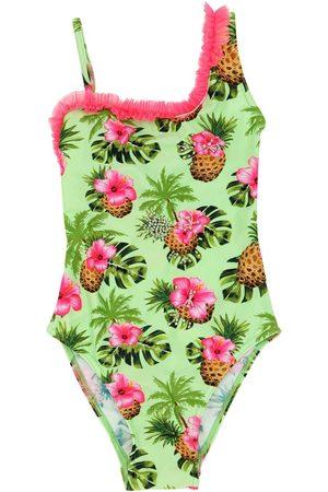 SELINI Floral Print Lycra One Piece Swimsuit