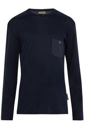 Zimmerli Cotton-blend Jersey Long-sleeved T-shirt - Mens - Navy