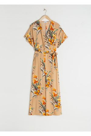 & OTHER STORIES Tropical Print Wrap Jumpsuit