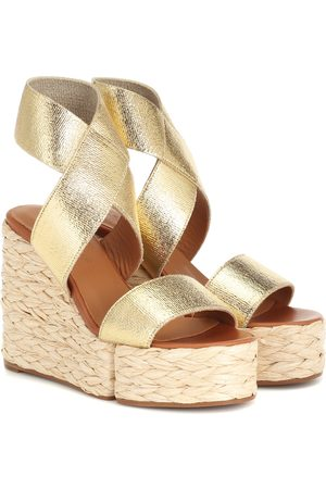 Robert Clergerie Aurore leather wedge sandals