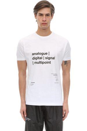 TDT - TOURNE DE TRANSMISSION Multipoint Printed Cotton Jersey T-shirt
