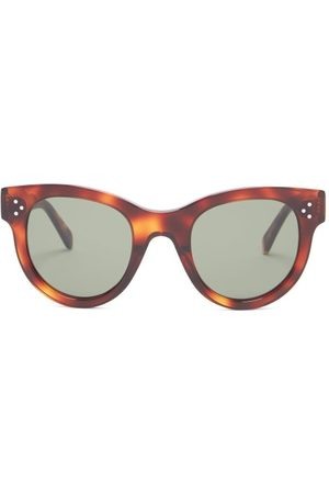 Céline Baby Audrey Cat-eye Acetate Sunglasses - Womens - Tortoiseshell