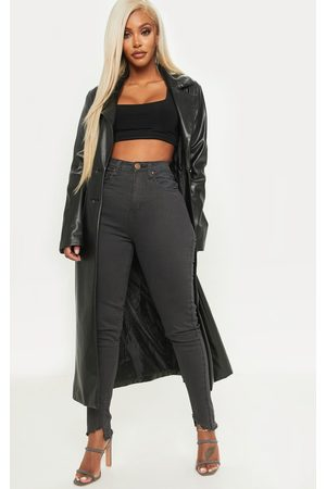 PRETTYLITTLETHING Shape Charcoal High Waisted Skinny Jeans