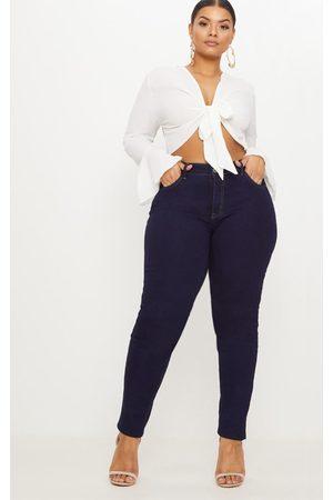 PrettyLittleThing Plus Indigo Skinny Jeans