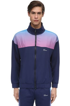 Drôle de Monsieur Shaded Satin & Nylon Zip-up Track Jacket