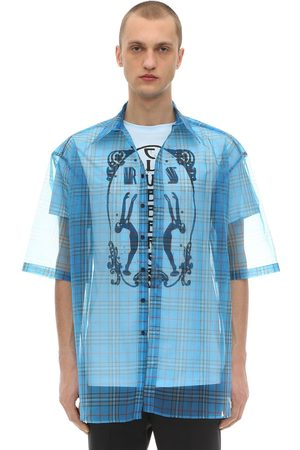 RAF SIMONS Short Sleeve Shirt W/ Organza Layer