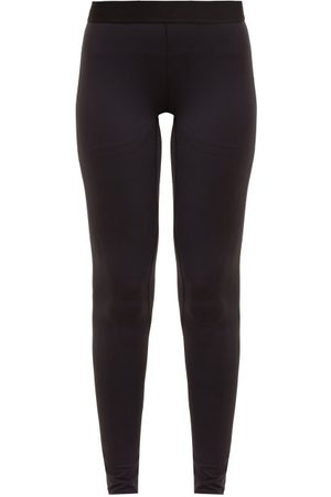 Raey Women Leggings - Contrast-waistband Leggings - Womens - Navy