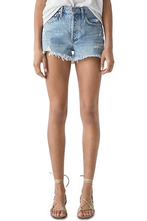 AGOLDE Parker Vintage Cutoff Denim Shorts in Swapmeet
