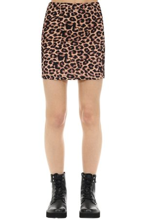 The People Vs Kate Hyaena Print Cotton Mini Skirt