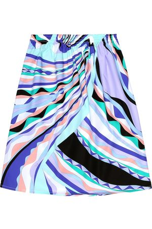 Emilio Pucci Printed cotton poplin skirt