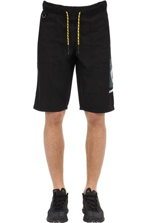 Renowned Logo Patch Nylon Shorts