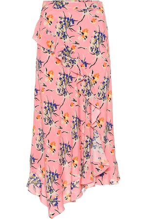 Etro Women Midi Skirts - Asymmetric floral crêpe midi skirt